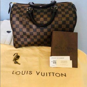 Excellent preloved Louis Vuitton Speedy 30 Damier